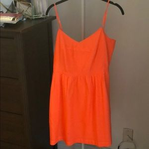 Orange jcrew summer dress